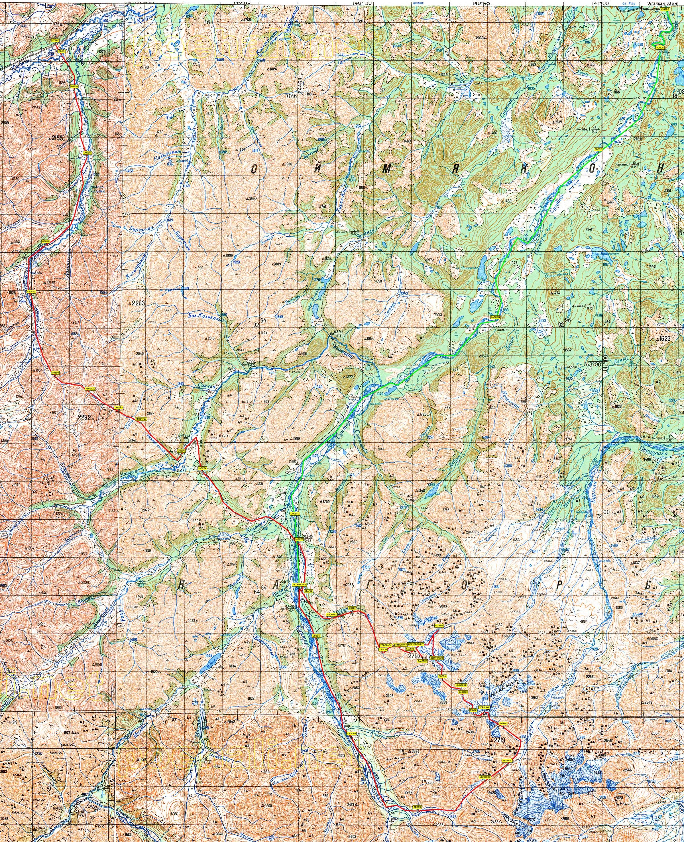 река Сунтар и гора Палатка