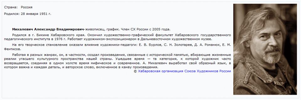 художник Михалевич