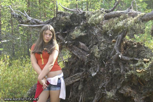 участница экспедиции в Карелию