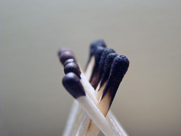 Сжёг без результата