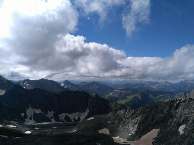 Вид с горы Цахвоа 6 августа 2018 года