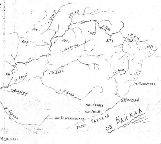 Обзорная карта верховьев реки Лена
