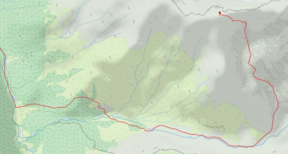 Восхождение на Цахвоа — нитка маршрута