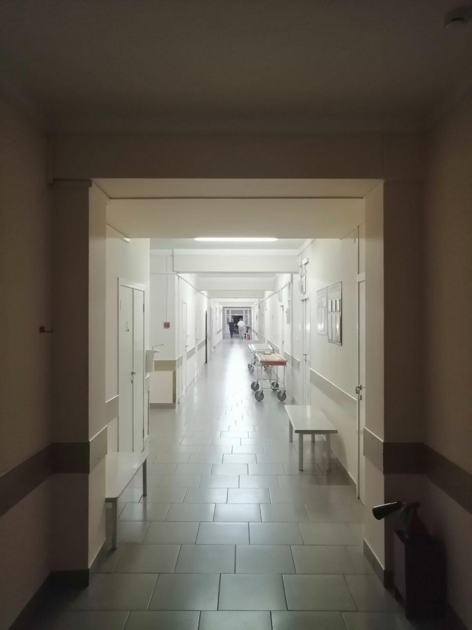 Больница Геленджика — коридор отделения трвматологии